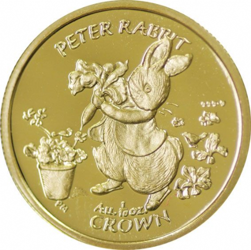 Gibraltar 2003 1/10th Peter Rabbit Proof Gold Crown